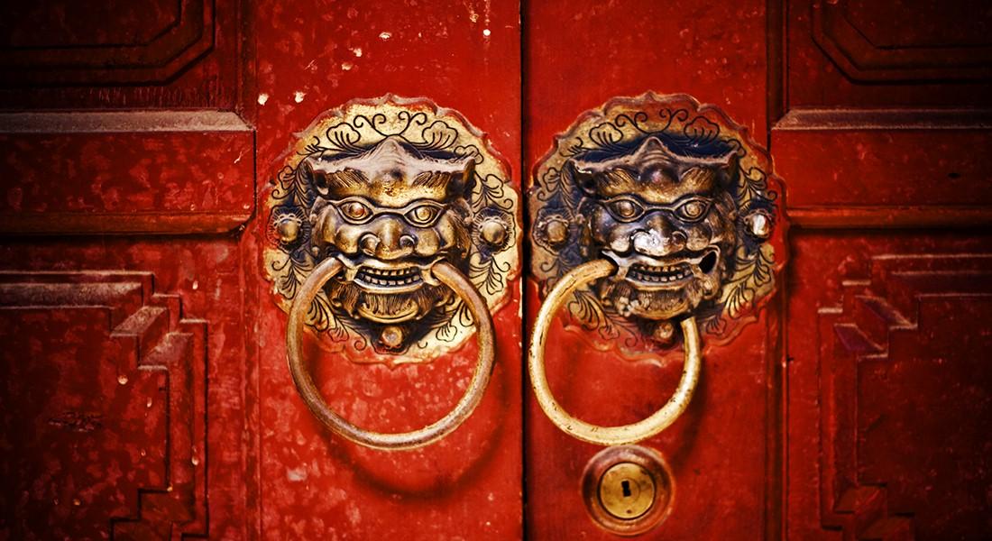 Chinese doorknobs