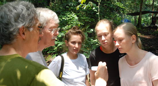 Students at field work